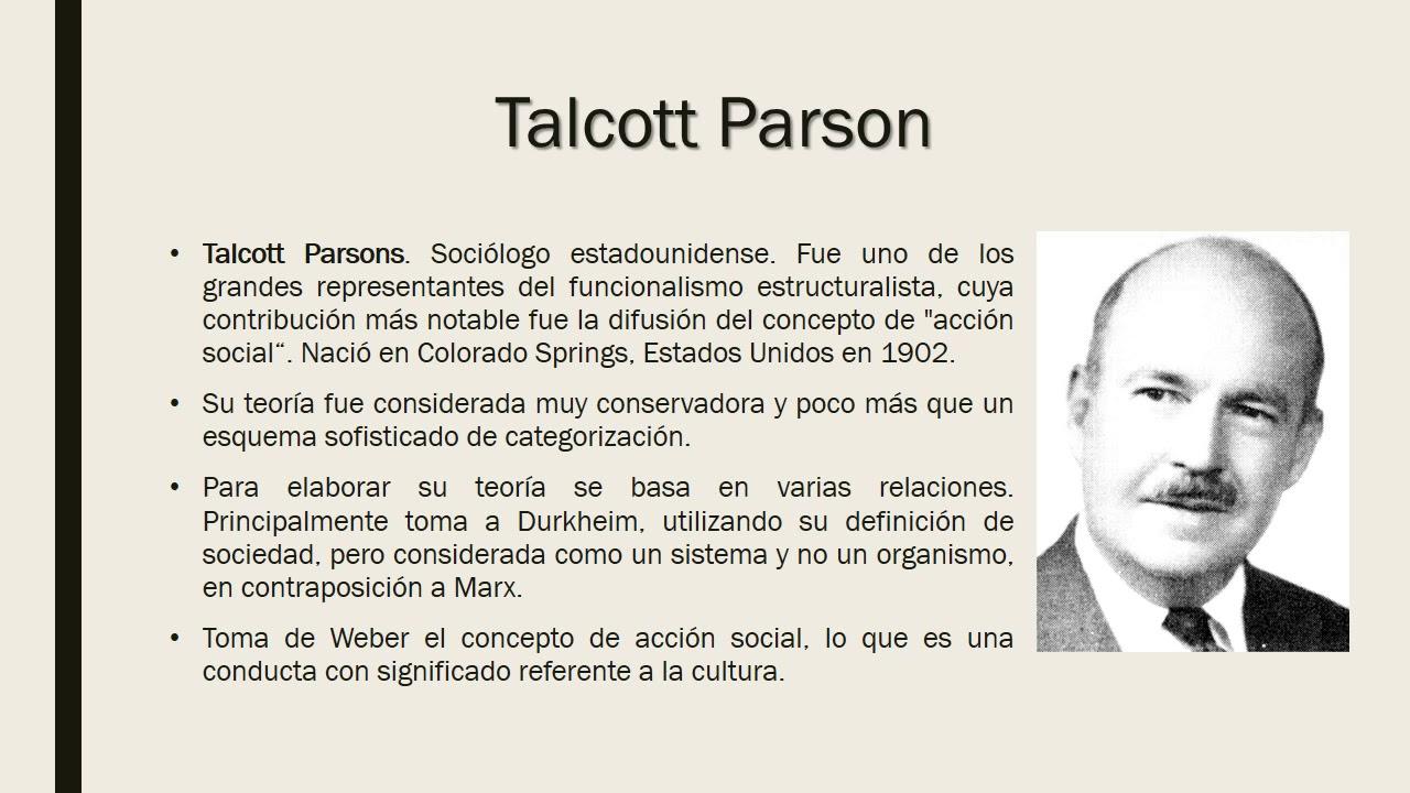 Funcionalismo Estructural De Talcott Y Merton
