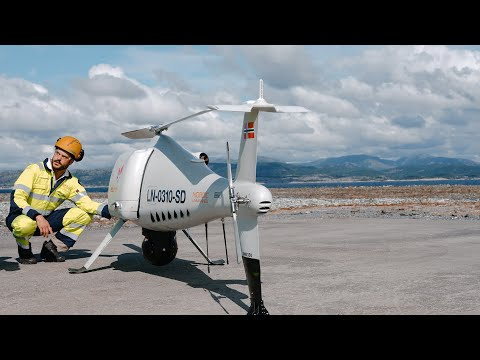 The world's first logistics operation with a drone to an offshore installation.