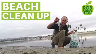 I picked up 680 pieces of trash from the beach!