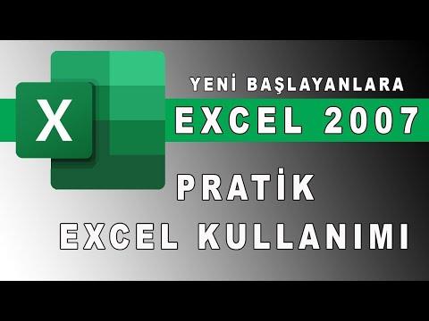 Excel dersleri, microsoft excel kullanımı, Temel excel uygulaması