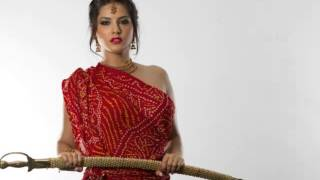SUNNY LEONE IN RED SAREE WARRIOR HIGHLY HD