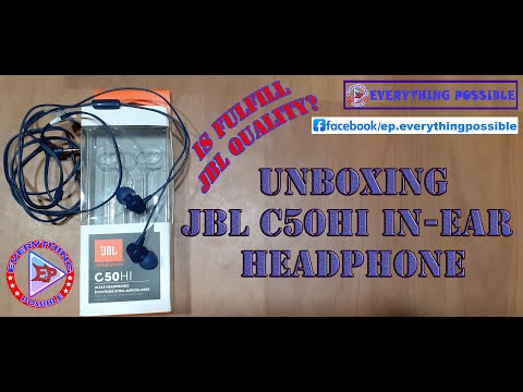 JBL C50HI In Ear Headphone with Mic Unboxing & Review | JBL Earphone 459 #JBL | Everything Possible