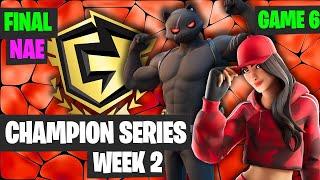 Fortnite FNCS Week 2 DUO NAE FINAL Game 6 Highlights - Fortnite Champion Series