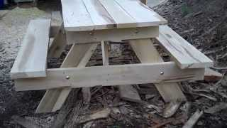 Picnic Table Made From Lumber From My Bandsaw Mill