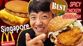 BEST SPICY CHICKEN SANDWICH at Singapore McDonald & Kaya Toast Breakfast?