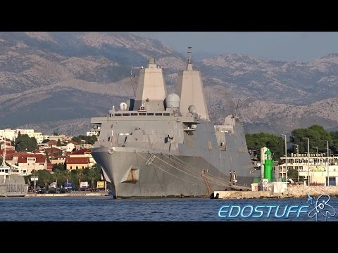 USS Mesa Verde LPD-19 - Split Harbor - Croatia HD