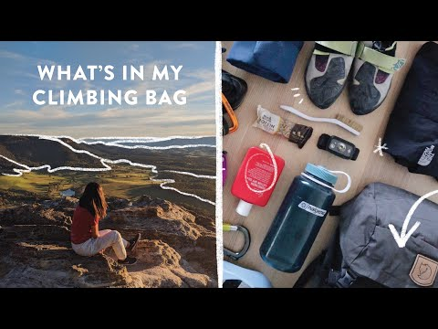 What's In My Outdoor Rock Climbing Bag 🎒
