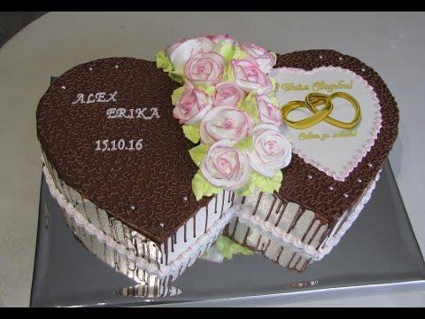 Торт Два свадебных сердца