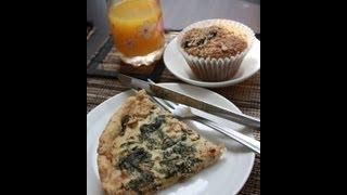 Veggie Brunch - Spinach Quiche & Blueberry Muffins