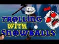 Darwin Project: TROLLING AND DESTROYING PPL W SNOWBALLS! (HILARIOUS REACTIONS)