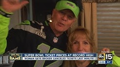 Super Bowl ticket holders face last minute cancellation