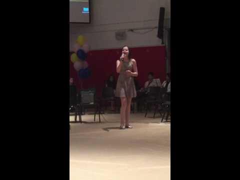 Melissa in grade 8 singing