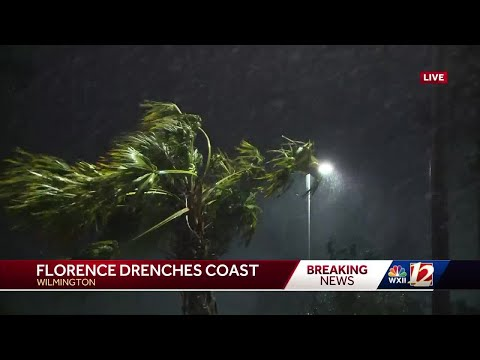 Hurricane Florence drenches coast of North Carolina