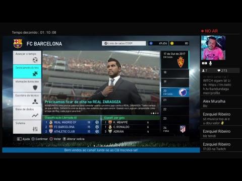 DLC 3.0 e a Master Liga com BARCELONA #3 PES 2018 [PS4]