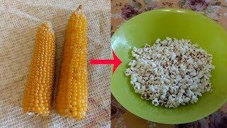 Домашний попкорн из кукурузы