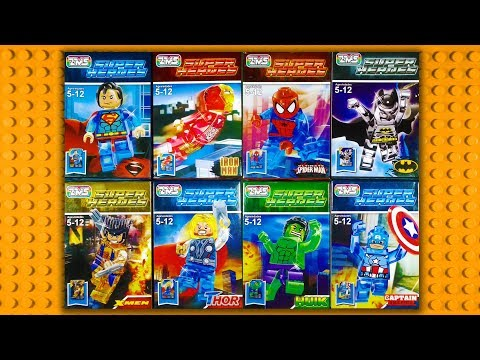 LEGO Marvel DC Transparent Minifigures (knock-off) ZMS 202