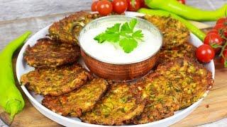 Mücver - Türkische Zucchinipuffer mit Schafskäse /Vorspeise