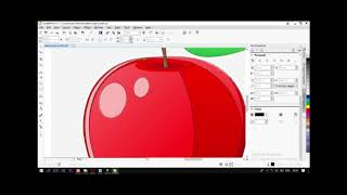 Gambar cover Tutorial on How to Vector Fruit Apple from Corel Draw