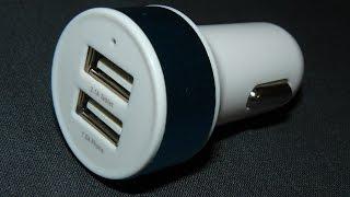 Дешевая зарядка от прикуривателя 2 USB 2 А обзор и полный тест - купить на АлиЭкспресс