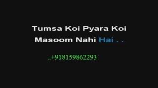 Tumsa Koi Pyara Koi Masoom - Karaoke - Khuddar (1994) - Kumar Sanu ; Alka Yagnik