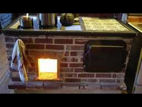 Walker Wood Fired Masonry Cook Stove Build Slideshow   YouTube
