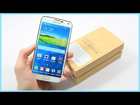 Déballage du Samsung Galaxy S5 et premier démarrage (Unboxing) en Français