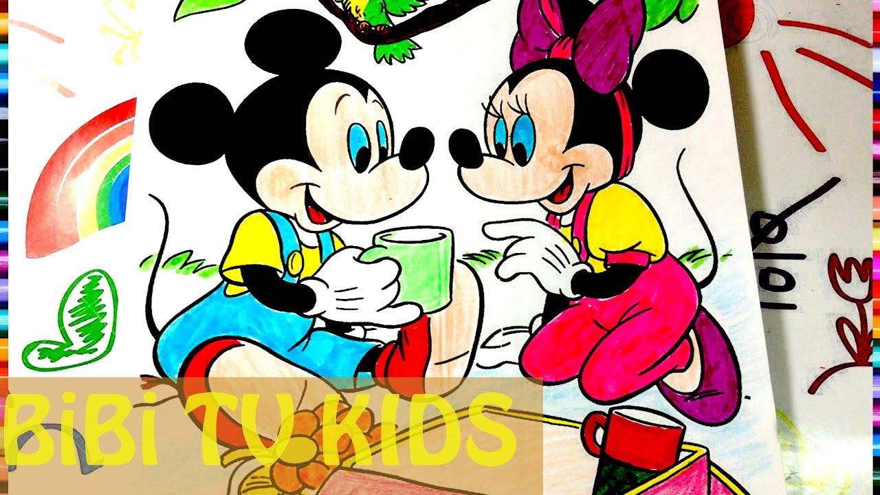 Tô màu chuột MicKey   Disney Mickey Mouse Coloring Pages   Đồ Chơi Tô Màu chuột Mickey   152