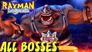 Rayman Origins & Legends - All Bosses  (No Damage)