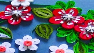 Quilling Artwork |  How to make amazing 3D Flowers