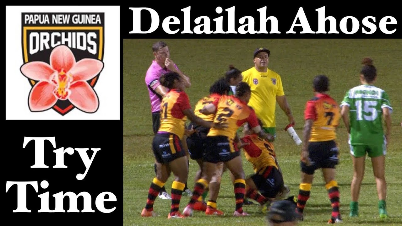 Delailah Ahose Try Png Orchids V Fnq Women S Rugby League 20 10 17 Youtube