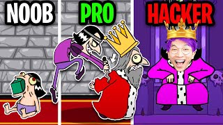 NOOB vs PRO vs HACKER In MURDER!? (Flash Game) *SECRET ENDING UNLOCKED!*