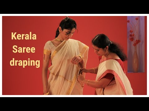 How to wear a Kerala Sari?