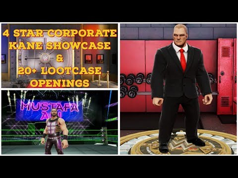 WWE Mayhem - 4 Star Corporate Kane Showcase/20+ Loot Case Openings