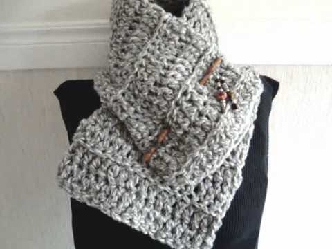 How To Crochet A Beginner Cowl Scarf Free Crochet Pattern Youtube