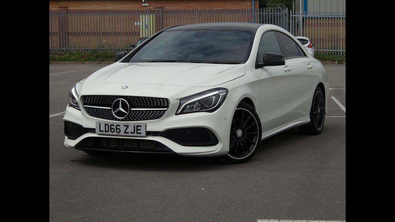ld66zje mercedes benz cla class cla 220d amg line 4matic 4dr tip auto in white youtube. Black Bedroom Furniture Sets. Home Design Ideas