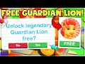 Gambar cover *WORKING* GET A FREE NEON GUARDIAN LION IN ADOPT ME! CODES AND HACKS Roblox