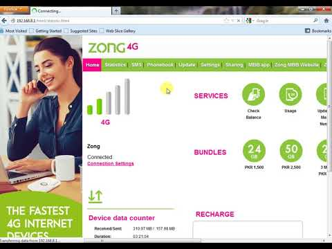 How To Check Zong 4G Device Remaining Data (ZONG MBB) 2017