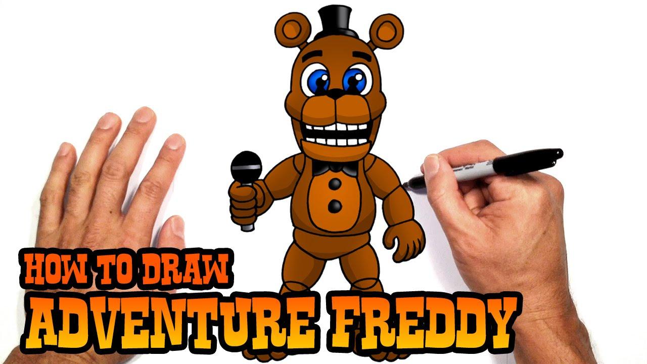 How to Draw Adventure Freddy | FNAF World