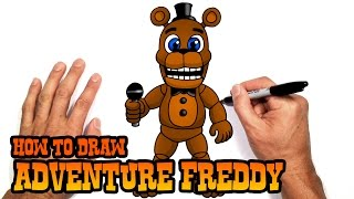 How to Draw Adventure Freddy | FNAF World