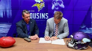 Behind The Scenes of Kirk Cousins' Contract Signing