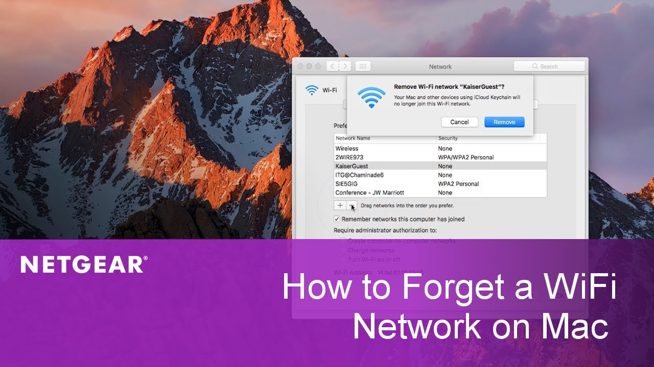 How to Forget a WiFi Network on Mac | NETGEAR