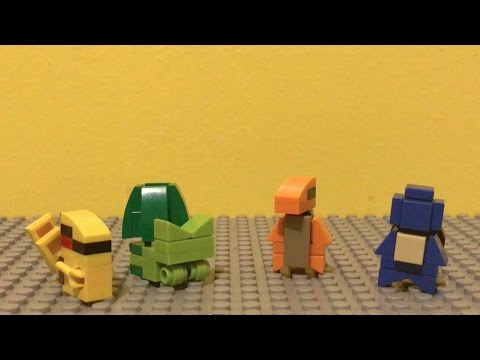 How To Build Mini Lego Pokemon Charmander And Squirtle Youtube