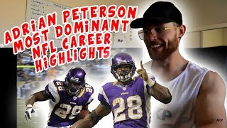 Rugby Player Reacts to ADRIAN PETERSON Most Dominant NFL Career Highlights YouTube Video!