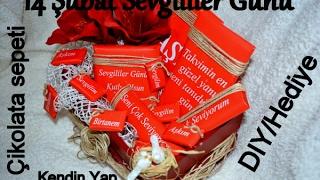 Sevgililer günü hediyesi çikolata sepeti (KendinYap/DIY) Betül Meriç