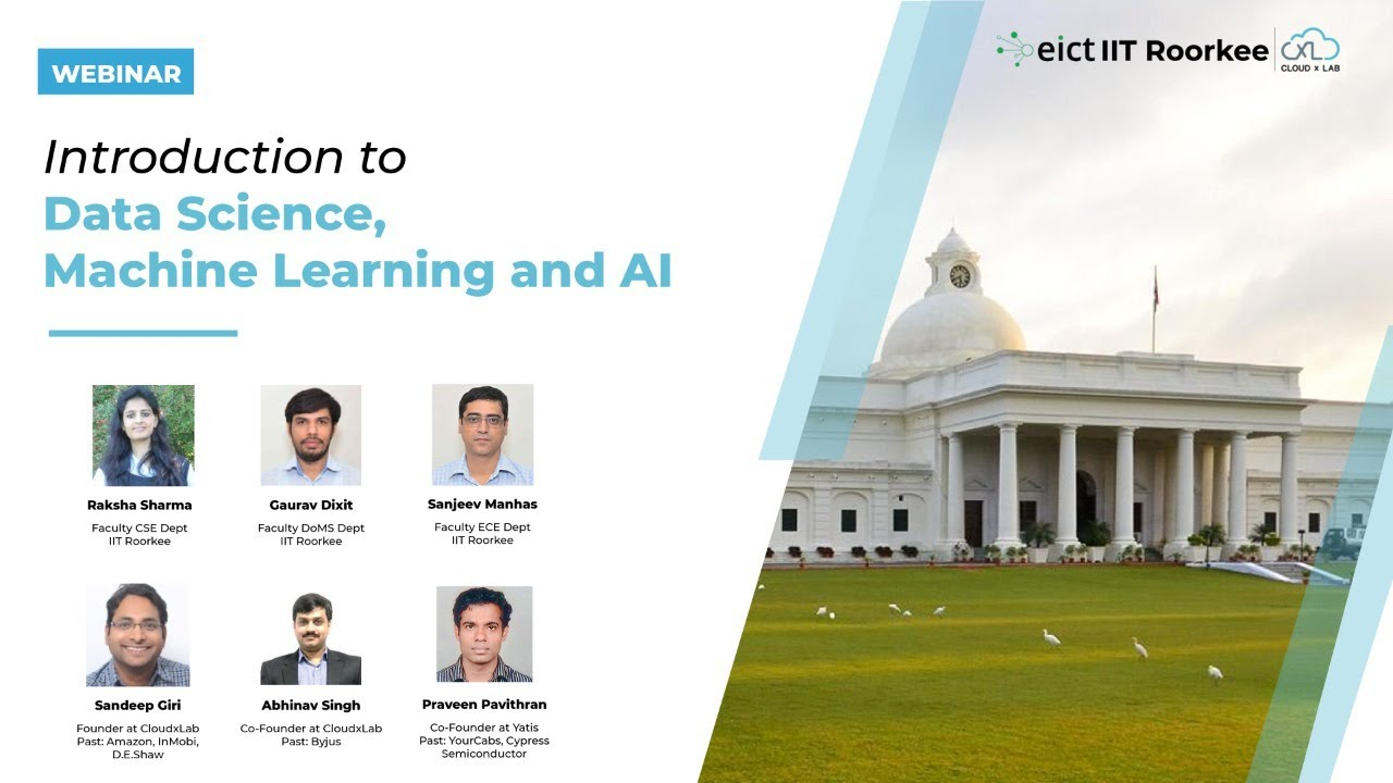 Introduction to Data Science, Machine Learning and AI