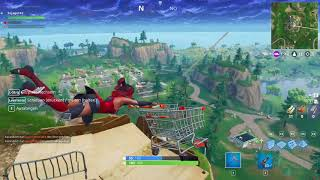 Fortnite - Flying shopping cart bug?!