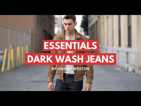 7fdd521d93 Dark Wash Jeans/Denim - Men's Wardrobe Essentials - indigo, blue - YouTube