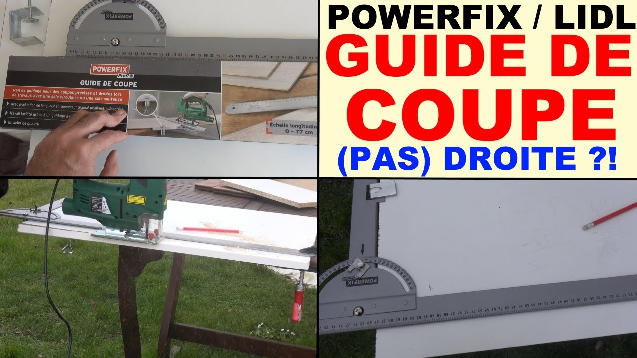 Guide de coupe powerfix lidl pour couper une planche droite ou pas youtube - Scie sauteuse lidl ...