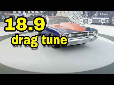 forza horizon 3 dodge dart drag tune  (18.9sec) full drag tune