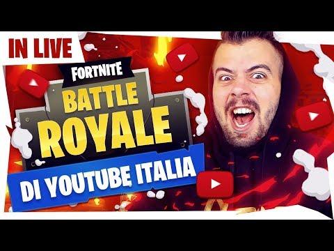 🔴 LIVE FORTNITE SERVER PRIVATI - BATTLE ROYALE DI YOUTUBE ITALIA